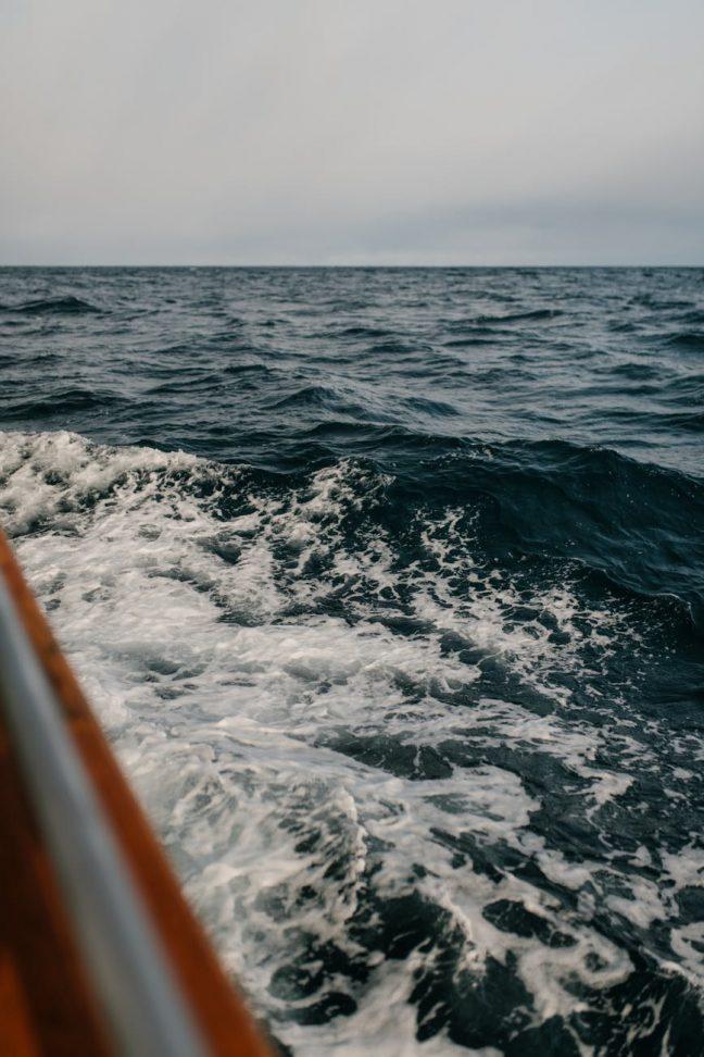 close up photo of blue sea waves